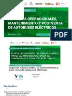 Mantenimiento y post-venta autobús electrico