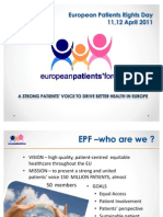 What is the European Patients Forum - Nicola Bedlington