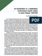 Cultural Sovietization in a MultiEthnic Environment Jewish Culture in Soviet Poland 1939 1941