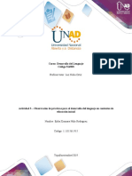 Formato Para La Elaboración de La Actividad 3 - Observación de Prácticas Para El Desarrollo Del Lenguaje en Contextos de Educación Inicial