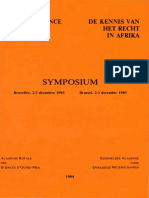 DE KENNIS VAN HET RECHT IN AFRIKA - SYMPOSIUM BRUSSEL 2-3 DEC 1983