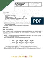 Devoir de Synthèse N°1 - Physique - 2ème Informatique (2010-2011) Mr Yousfi Hmida