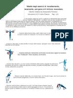 ARCO tabella esercizi muscolari