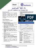 NanoLub Product Data Sheet