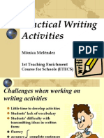Practical Writing Activities - Mónica Meléndez