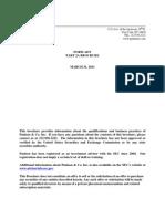 Paulson 2011 ADV Part 2a Brochure