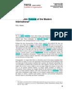 Walker R B J - The Double-Outside of the Modernity - Ephemera