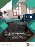 Anexo 1. Guía metodológica y manual para la elaboración de Fichas Pedagógicas