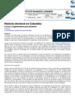 HISTORIA ELECTORAL EN COLOMBIA