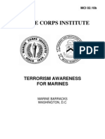 0210B Terrorism Awareness For Marines