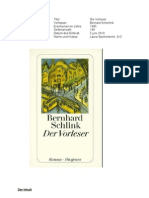 Boekverslag Der Vorleser.