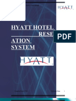 Hyatt Hotels Reservation System