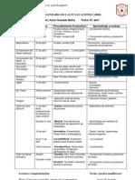 calendario de evaluaciones 3º Bas.