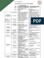 calendario de evaluaciones 5º Bas.