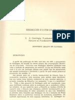Heidegger e o Fim Da Filosofia