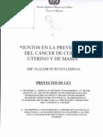 Proyecto de Ley para mejorar las condiciones de salud de la Mujer - Diputada Elisabeth Reyes