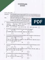 Questionnaire Assessment