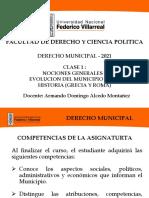 CLASE 1-D.MUNICIPAL 2021-INTRODUCCION-GRECIA-ROMA