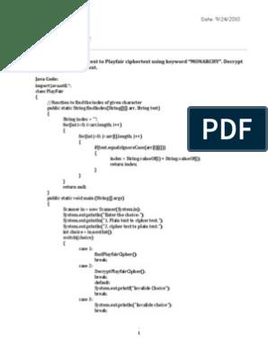 Playfair Cipher | Cipher | Cryptography