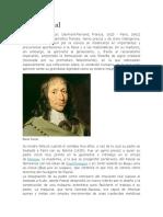 Biografia de PascalBlaise Pascal