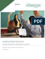 Grading Higher Education