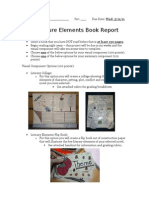 Literary Elements Book Report