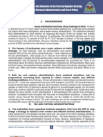 Haiti—Key Elements of the Post-Earthquake Strategyfor Revenue Administration and Fiscal Policy, Republic of Haiti