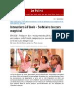 Innovations à l'École (Le Point, Juillet 2020)