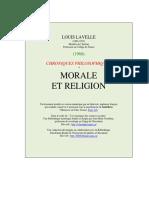 1960 Morale Et Religion
