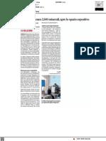 Donati all'Ateneo 3500 minerali, apre lo spazio espositivo - Il Corriere Adriatico del 25 settembre 2021