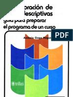 Gago Huguet, Antonio - Elaboracin de cartas descriptivas. Gua para preparar el prog. de un curs