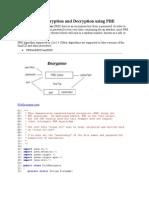 File Encryption and Decryption using PBE