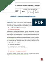 Chapitre 2 _ La Politique de Distribution
