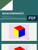 AULA 01 - Histórico e Behaviorismo