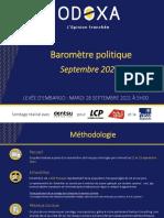 Barometre Politique Odoxa - Septembre 2021