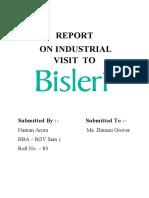 Bisleri Report