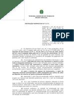 Instrução normativa 03 do TST