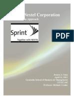 Sprint Nextel Corporation - Socially, Evironmentally, Ethically Responsible Business Practice