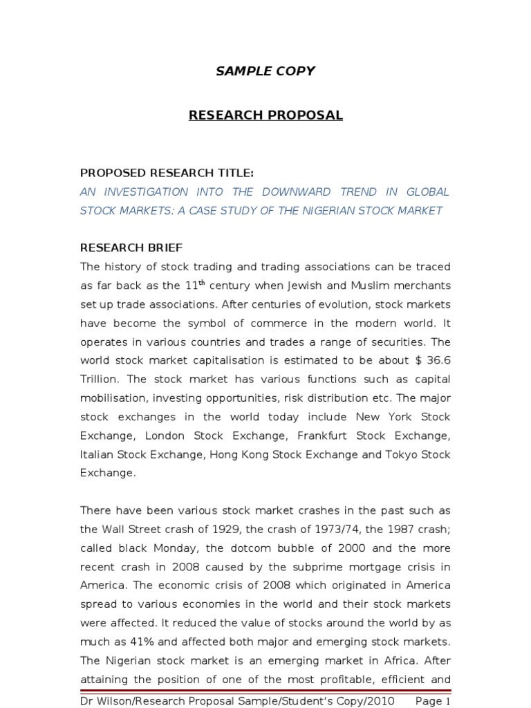 marketing research proposal samples This response provides a research proposal sample on a topic from the field of marketing it guides you on how to write a research proposal.