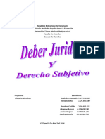 Deber Juridico y Derecho Subjetivo