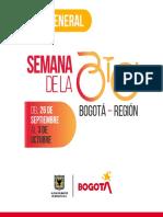 Programación de la XIV Semana de la Bici Bogotá-Región