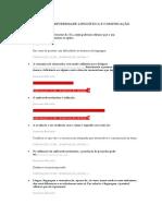 Questionário I e II – Diversidade Linguística e Comunicação Alternativa