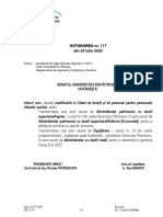 Hotararea nr.117 din 24.07.2020  Stat de functii pt. personalul didactic auxiliar - Modificat