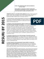 RESURJ by 2015 Action Agenda