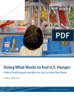 Doing What Works to End U.S. Hunger