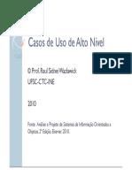 AS_aula 9 - Modelagem de Interacao - Casos de Uso de Alto Nivel