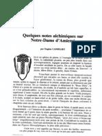 [Alchimie] AT218 - Eugène Canseliet - Quelques notes alchimiques sur Notre-Dame d'Amiens