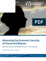 Advancing the Economic Security of Unmarried Women