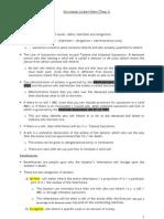 Succession Lecture Notes (Term 1)