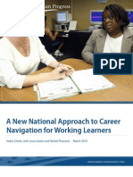 A New National Approach to Career Navigation for Working Learners